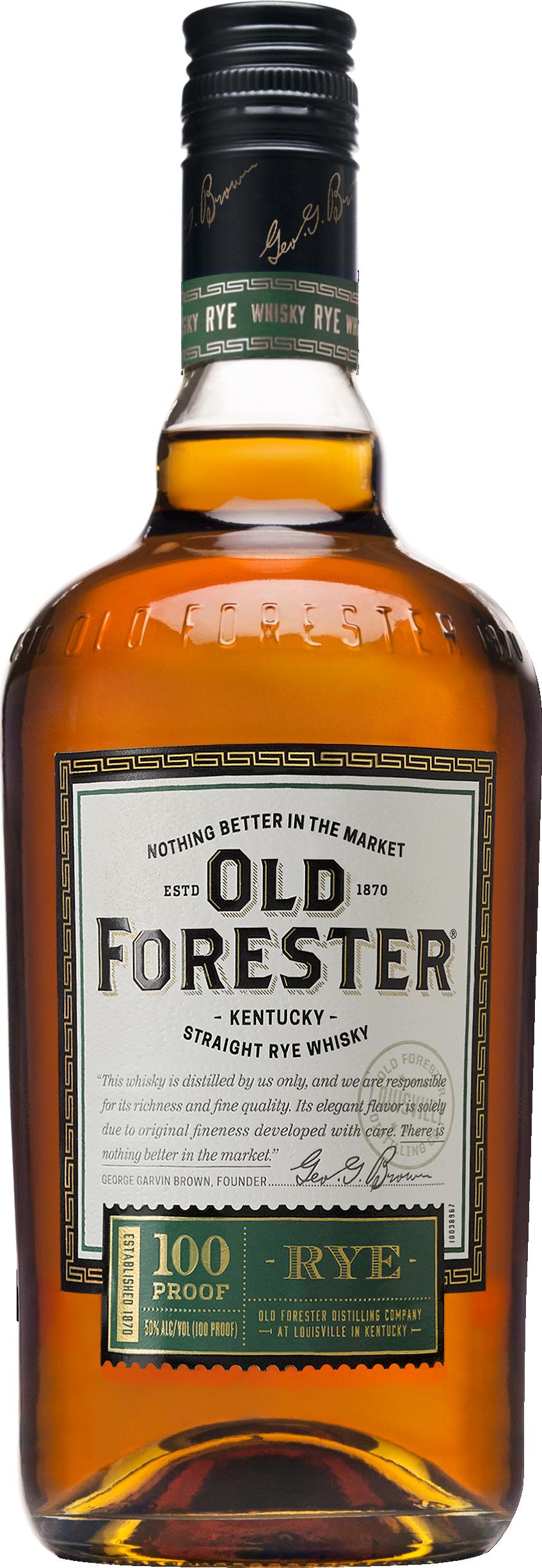 Rye Whisky Bottle