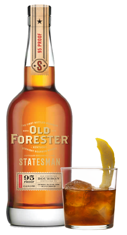 Photo of Old Forester Statesman and cocktail glass