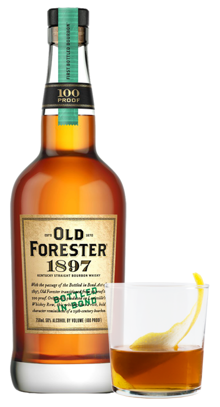 Photo of Old Forester 1897 and cocktail glass