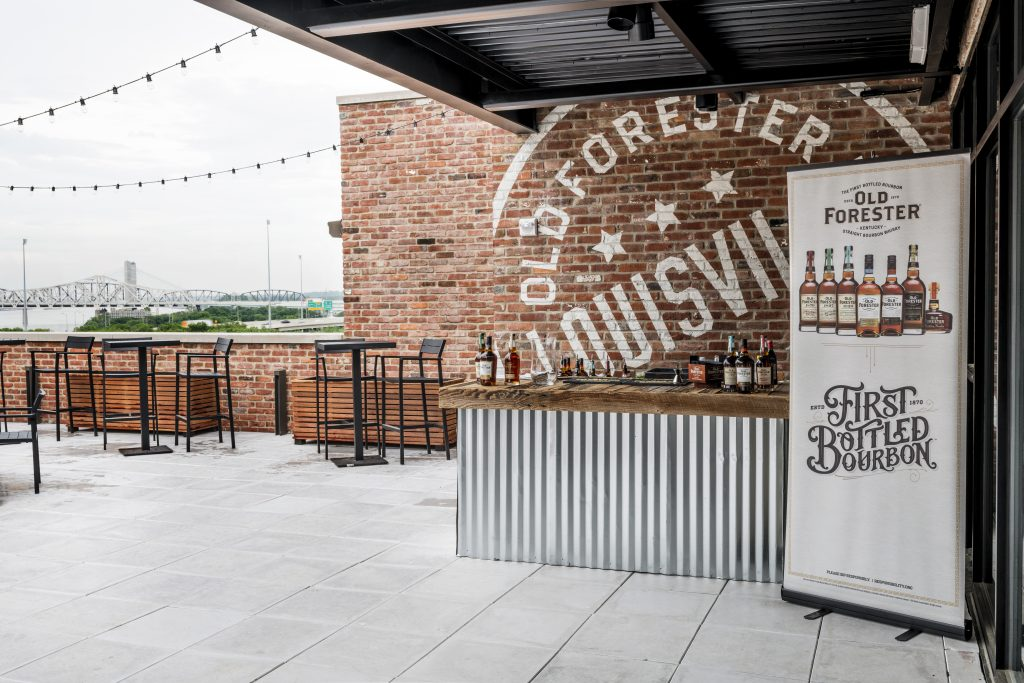 Outdoor event space at Old Forester