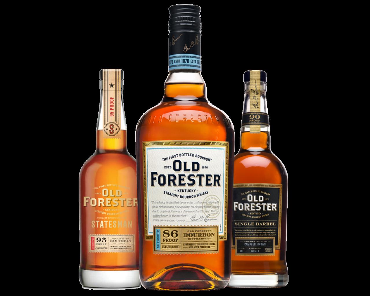 Old Forester bottles