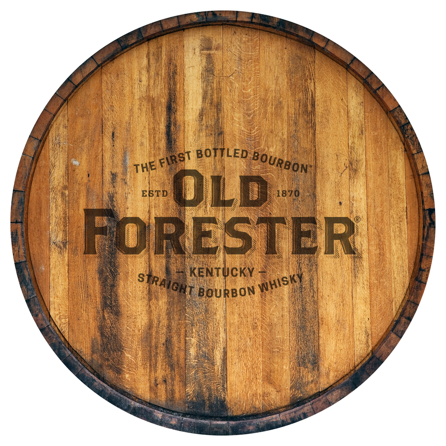 Old Forester barrel closeup