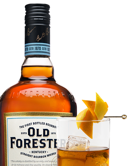 Photo of Old Forester bottle and glass